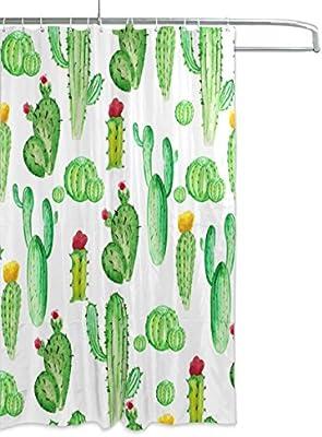 /cortina de ba/ño /Cactus acuarela cortina de ducha 66/x 72/inch mydaily/ resistente al moho y poli/éster resistente al agua/