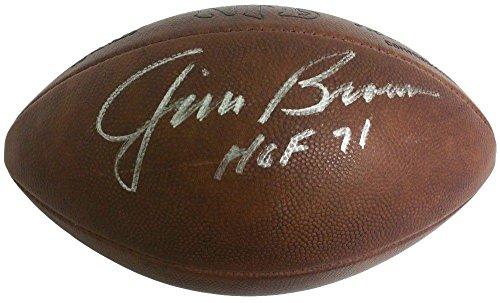 Duke Autographed Official Nfl Football - Jim Brown Signed Autographed Official Vintage NFL Duke Football Hof 71 PSA Loa