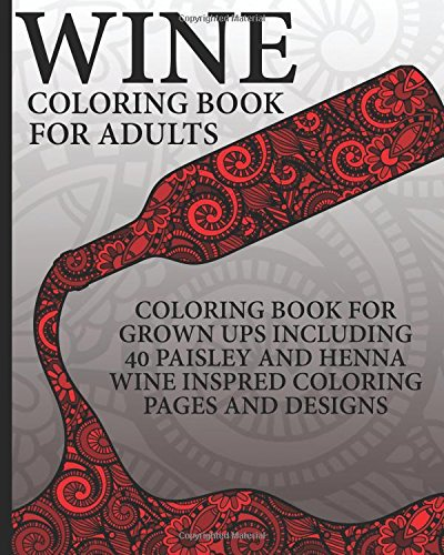 Wine Coloring Book Adults Including product image