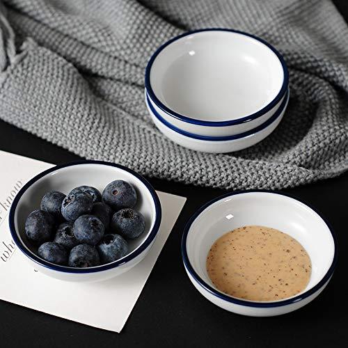 Relish Porcelain (Tray - Mini White Ceramic Dish Plate Fruit Snack Sauce Dessert Decorative Jewelry Relish Storage Creative - Dishes Only Bowls Plates Dishes Plates Plate Snack Decor Black Dish Porcelain Jewe)