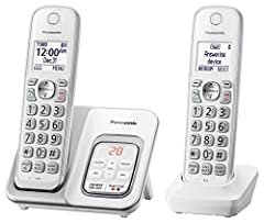 The Panasonic KX-TGD532W expandable Digital Enhanced Cordless Telecommunications (DECT) 6.0* Phone System with answering machine and 2 cordless handsets is a smart, reliable home phone/home office solution designed to make everyday call manag...