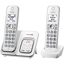 Panasonic KX-TGD532W Expandable Cordless Phone with Call Block and Answering Machine - 2 Handsets