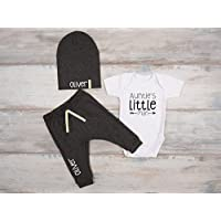 Baby Boy Auntie's Little Man Outfit, Nephew Gift, Set of 3 - Bodysuit, Pants and Hat
