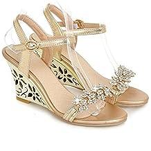 Robert Westbrook Fashion Fretwork Heels Wedges Sandals Rhinestone Silver Gold Summer Sandals Sexy Hot Sale