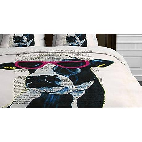 Deny Designs Coco De Paris Jetset Cow Duvet Cover King