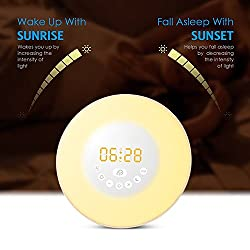 2017 Bluetooth Stereo Multi-Function Wake-Up Lights Lamp Touch Led Lights Analog Sunrise Colorful Table Desk Alarm Clock Holiday Festival Christmas Birthday Gift