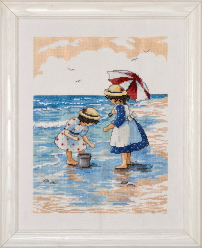 t Gathering Shells Counted Cross Stitch Kit, 9 by 12-Inch ()