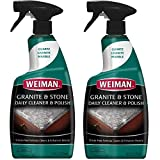 polish stone - Weiman Granite Cleaner and Polish 24 Fluid Ounce 2 Pack - For Daily Use - Enhances Natural Color in Granite, Quartz, Marble, Soap Stone and More
