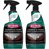 Weiman Granite Cleaner and Polish - 24 Ounce 2 Pack - For Granite Marble Soapstone Quartz Quartzite Slate Limestone Corian Laminate Tile Countertop and More