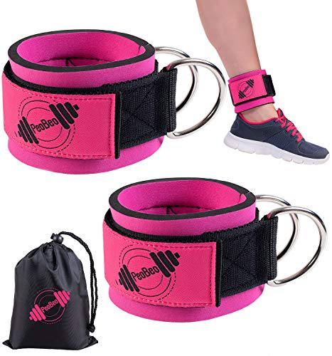Ankle Cable Attachments for Gym | Ankle Straps for Cable Machines Women- Pair - Foot Attachment