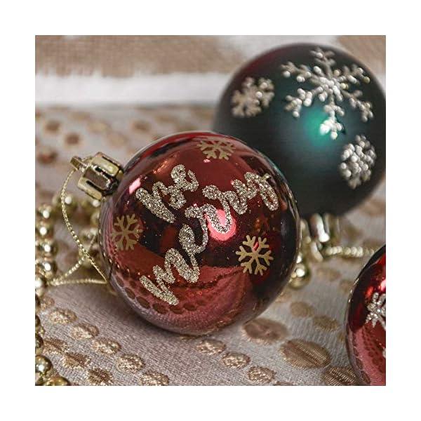 Valery Madelyn Palle di Natale 9 Pezzi 6 cm Palline di Natale, Strada di Campagna Rosso Verde e Oro Infrangibile Ornamenti Palla di Natale Decorazione per Albero di Natale Decor 5 spesavip
