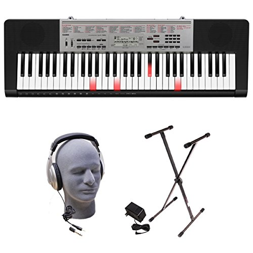 (Casio LK-190 61-Key Premium Lighted Keyboard Pack with Stand, Headphones & Power Supply)