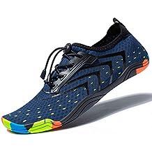 MEET Women Men Unisex Lightweight Water Shoes Quick-Dry Barefoot Flexible Beach Swim Shoes