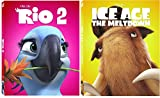 Ice Age 2: The Meltdown & Rio 2 Blu Ray Movie Cartoons Sequel Animated Set Exotic pet bird