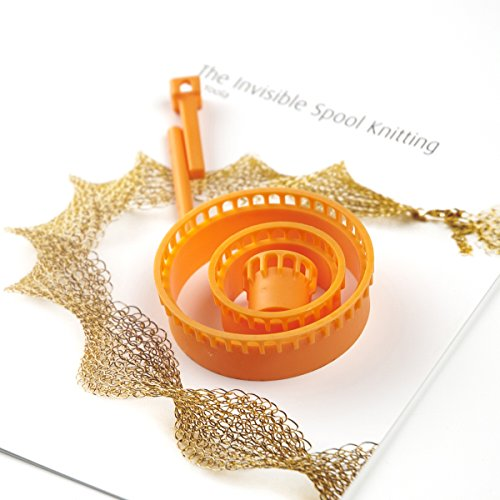 Premium Crochet Looms Set - 4pc Ergonomic Jewelry Looms - Unique Invisible Spool Knitting Looms - Best Wire Crochet Beading Looms - Wire Mesh Looms - Jewelry Making Wire Knitter - Super Gift for Crochet Lovers - Includes Downloadable Video