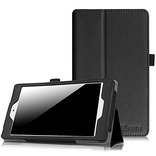 Fintie Alcatel Onetouch POP 7 LTE Case (T-Mobile 2016 Model) - Premium PU Leather Stand Folio Cover with Stylus Holder for T-Mobile Alcatel One Touch POP 7 LTE (Model 9015W), Black - Tablet Case For Alcatel One Touch