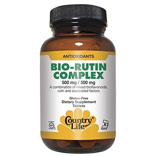 Country Life Citrus Bioflavonoid/rutin Complex 500 Mg/500 Mg, (Citrus Bioflavonoid Rutin Complex)