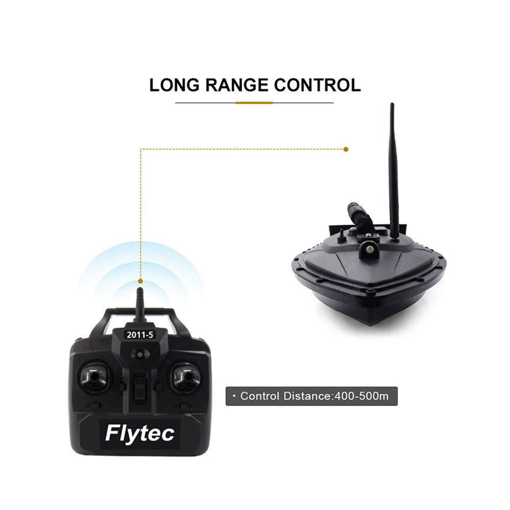 Aumee 2.4GHz RC Boat, Double Motors Two Separate Bait Tanks Electric Radio Bait Fish Finder for Pool & Outdoor Adventure Use to Kids Or Adults (Black) by Aumee (Image #4)
