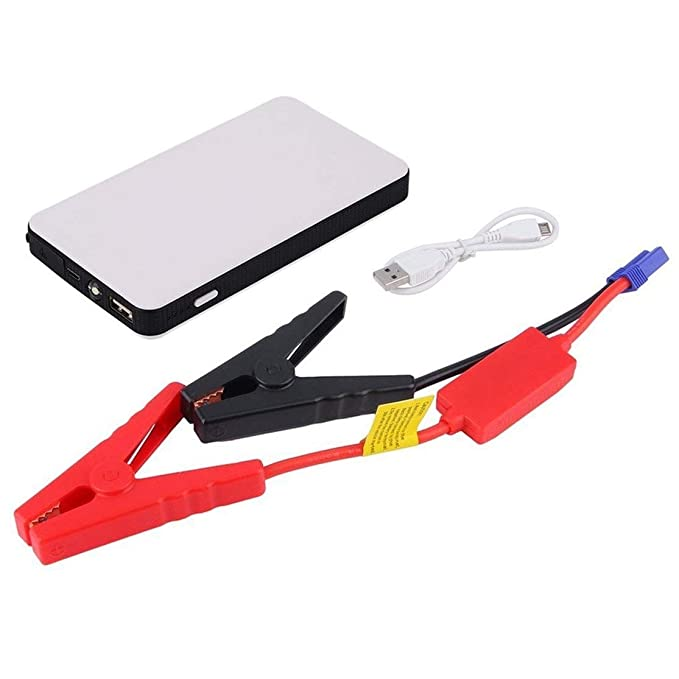 12 V 20000 mAh Mini Tragbare Multifunktions Auto Starthilfe Ladeger/ät Notstart Ladeger/ät Kaemma Color:white