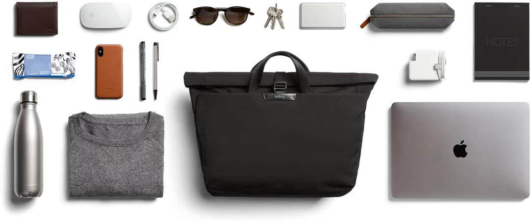 Bellroy System Work Bag Messenger Bag aus wasserabweisenden Materialien - Charcoal 15 Laptop, Tablet, Notizen, Kabel, Trinkflasche, Alltagsdinge