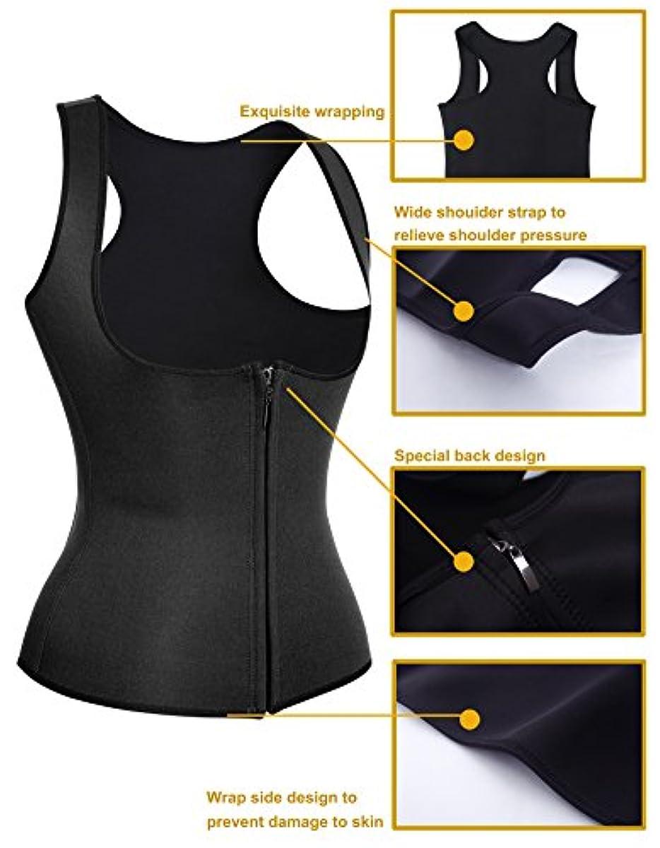 e1626575a22 DETAILS. Women Hot Sweat Neoprene Weight Loss Tank Top Shirt Waist Trainer  Vest Zipper Co