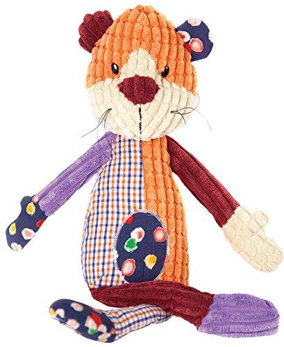 Corduroy Embroidered Overalls - Izzy Friend's Lion Soft Sculptured Corduroy Textured Animal Plush Pillow Toy IOIFLN 17
