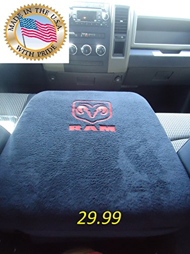 TRUCK CENTER ARMREST CONSOLE COVER EMBROIDERED FOR ALL RAM PICKUP TRUCKS 1998 - 2013 EMBROIDERED WITH RAM LOGO Truck SUV Auto Center Armrest The Only One MADE IN THE USA (Center Arm Rest compare prices)