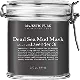 MAJESTIC PURE Dead Sea Mud Mask with Lavender Oil - Natural Face and Skin Care - Helps Reducing Pores, Acne and Blackheads - Soothing, Therapeutic, and Nourishing, 8.8 oz