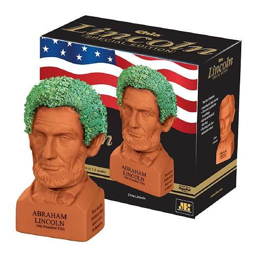 CHIA Proud to be American Chia Abraham Lincoln Handmade Decorative Planter