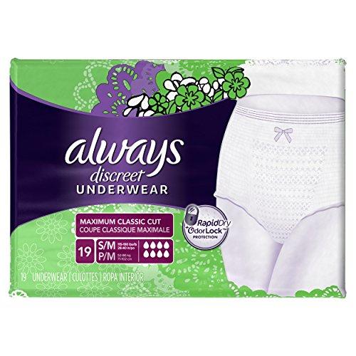 Always Discreet Incontinence Underwear for Women, Bladder Pr