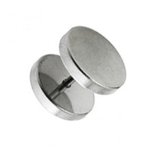 Piercing Oreja Falso Dilatador Acero Quirúrgico 316L Discos Planos VotrePiercing - 1.2 x 6 x 10 mm: Amazon.es: Joyería