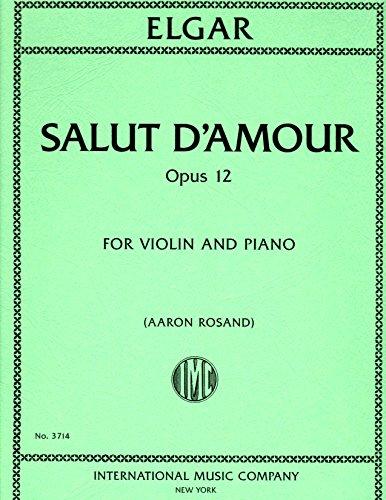 Elgar: Salut d'Amour, Op. 12 - Violin (International - Amour Book Music