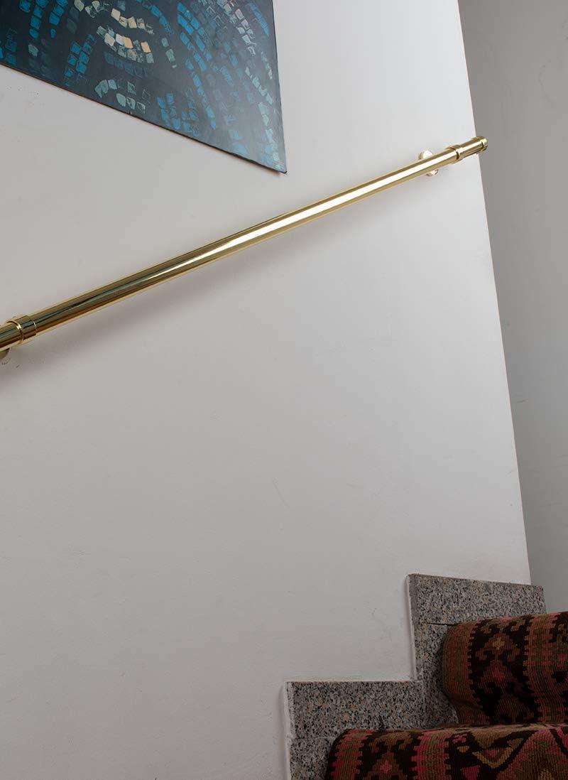 L/änge: 120 cm Belastung bis 130kg komplett Handlauf Durchmesser 28 mm glanz Messing