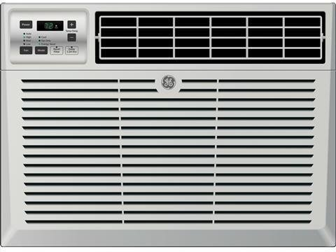GE AEM05LX 19'' Window Air Conditioner with 5200 Cooling BTU, Energy Star Qualified in Light Cool Gray by GE