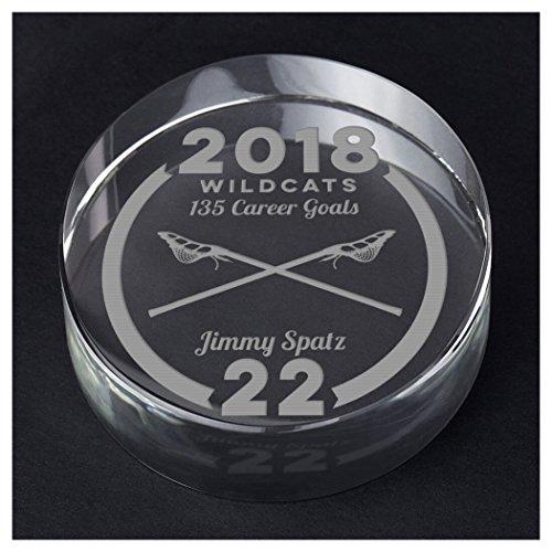 ChalkTalkSPORTS Guys Lacrosse Personalized Crystal Award Gift | Custom Team Award by ChalkTalkSPORTS