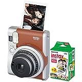 Fujifilm 600016141 Instax Mini 90 Neo Classic Camera Bundle, Auto Focus, Brown
