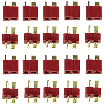 JUYO VONSAN 10 Pairs Ultra T Plug Connectors Deans Style For RC LiPo Battery Male and Female