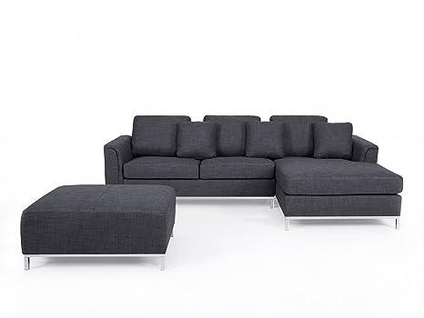 Divano grigio in tessuto - Divano angolare componibile - Sofa ...