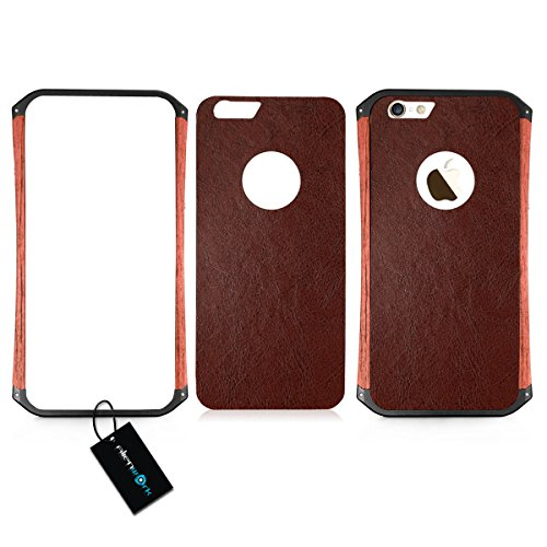 Alienwork Schutzhülle für iPhone 6 Stoßfest Hülle Case Bumper Design Aluminium schwarz AP621-01