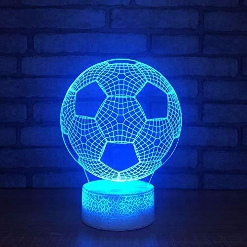 Night Lights Football 3d Led Lamp Light Rgbw Changeable Mood Lamp Cool Night Light For Birthday
