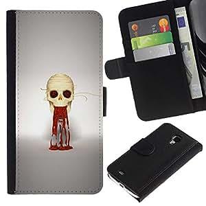 All Phone Most Case / Oferta Especial Cáscara Funda de cuero Monedero Cubierta de proteccion Caso / Wallet Case for Samsung Galaxy S4 Mini i9190 // Puke Skull