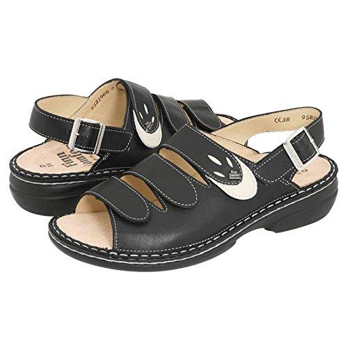 SALONIKI FinnComfort Black 2557900418 Sandal Womens 04qYwT8