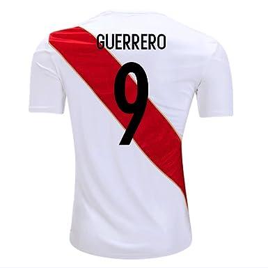 c5f2a4e9bc4 Umbro Guerrero  9 Peru Home Men s Soccer Jersey World Cup Russia 2018 (S)