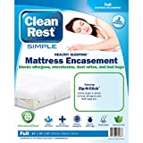 Clean Rest SimpleWater-Resistant, Allergy and Bed Bug Blocking Mattress Encasement, Full