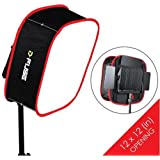 Kamerar D-Fuse Large LED Light Panel Softbox: 12x12 Opening Foldable Portable Diffuser Carrying Bag Strap Attachment Photography Photo Video