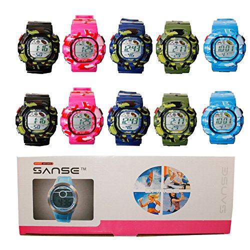 DIYJewelryDepot Sanse WOMEN'S Sports Camouflage Watch Multicolored Pack - Multi Colored G Shock