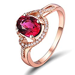 Rose Gold With Pink Diamond Ring