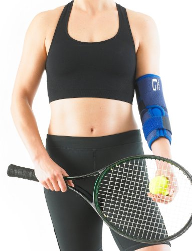 Neo G Elbow Support - For Epicondylitis, Tennis Golfers Elbow, Sprains, Strain Injuries, Tendonitis, Arthritis, Recovery, Sports - Adjustable Compression - Class 1 Medical Device - One Size - Blue by Neo-G (Image #4)