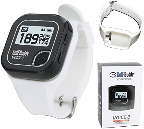 Golf Buddy Bundle Voice 2 GolfBuddy GPS Watch Easy-to-Use Talking GPS Wristband