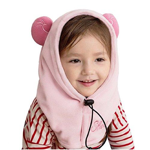 TRIWONDER Balaclava Hat for Kids Face Mask Thermal Fleece Neck Warmer Winter Ski Mask Full Face Cover Cap (Light Pink - Sheep)
